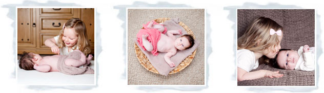Professional portrait photographs of children and babies
